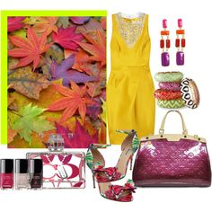 """""""Colorful Evening"""" by jacque-reid on Polyvore"""