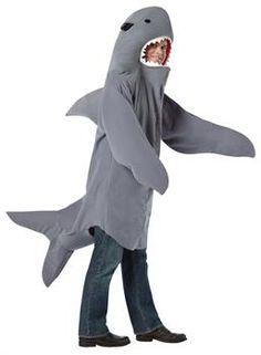 One Size Adult Sand Shark Mascot Funny Fish Unisex Halloween Costume