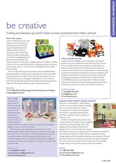 Craft Focus Magazine Issue 47 February / March 2015 featuring our Giftbags, Gift Packaging Accessories, Crafting and Stationery Items