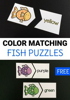 Free printable color matching fish puzzles can help preschoolers and kindergarteners work on color and color word recognition in a fun way! Grab these easy to prep puzzles for home or classroom use!