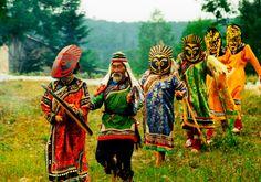 Udege people perform traditional dance; Khabarovsk krai, Russian Federation© Tatiana Boyle