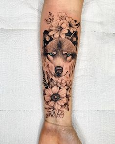 Browse our content for a good deal more in regards to this spectacular photo Dope Tattoos, Mini Tattoos, Unique Tattoos, Half Sleeve Tattoos Dog, Girl Arm Tattoos, Body Art Tattoos, Wolf Tattoos For Women, Tattoos For Guys, Small Forearm Tattoos
