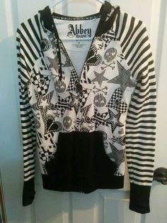 Abbey Dawn Hoodie Goth Stripes M  #AbbeyDawn #Hoodie