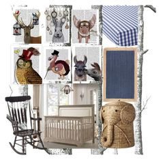 """""""baby room"""" by jadelanco ❤ liked on Polyvore featuring interior, interiors, interior design, home, home decor, interior decorating, Cole & Son, Serena & Lily, Gift Mark and nuLOOM"""
