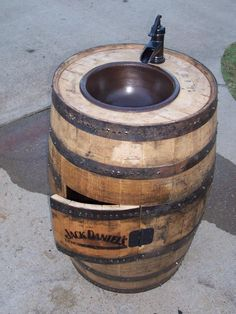 An Indoor Jack Danielu0027s Barrel Sink. Very Cool! Found At Www.facebook.