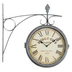 Horloges 5 cadrans en métal effet vieilli L 88 cm GREENFORD ...