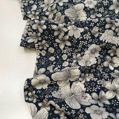 Cotton Lawn Fabric, Navy Blue Background, Dressmaking, Yarns, Crisp, Weave, Print Patterns, Count, Floral Design