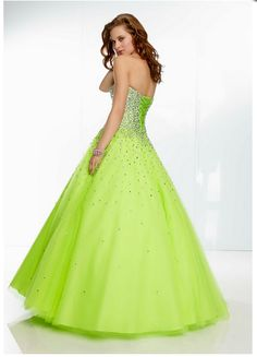 Beaded Tulle Prom Ball Gown. Corrset back.