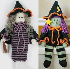 Picture of Witch Bag Holder and TP Topper Crochet Pattern