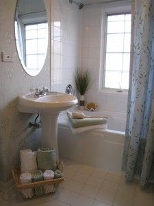 Bathroom staging g on pinterest staging bathroom and Accessorizing a small bathroom