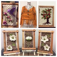 Weaving Techniques, Ladder Decor, Loom, 3 D, Decoupage, Diy And Crafts, Projects To Try, Carpet, Tapestry