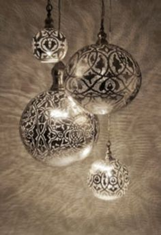 spray paint through lace onto clear ornaments