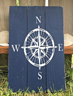 Compass Rose - Nautical Compass Sign - Nautical Decor - Beach House Decor - Coastal Decor - Adventure Sign - Travel Decor - Nautical Nursery by BoardsAndBurlapDecor on Etsy https://www.etsy.com/uk/listing/397869231/compass-rose-nautical-compass-sign