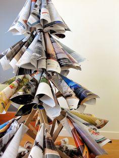 'Old Magazine Christmas Tree' by Tai-Ran Tseng