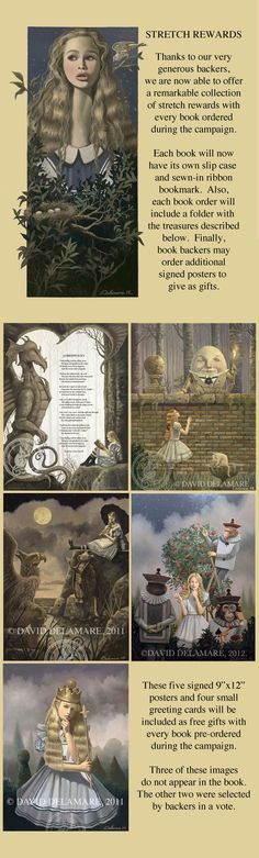 Alice in Wonderland Book (Illustrated by David Delamare) by Bad Monkey Productions — Kickstarter