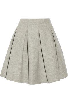 MIU MIU Pleated Wool Mini Skirt. #miumiu #cloth #skirt