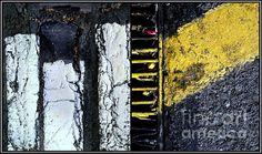 A compilation of four photographs from a parking lot Order:www.marlene-burns.artistwebsites.com