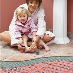 Bathroom Floor Heating Electric ~ Http://lanewstalk.com/the Heated Tile  Floor Project Preparation/ | Heated Tile Floor | Pinterest | Tile Flooring  And ...