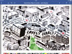 Jenni Sparks hand drawn map of London