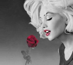 Beautiful colorful pictures and Gifs: Flowers photos-Beautiful Rosas Marilyn Monroe Dibujo, Marilyn Monroe Drawing, Marilyn Monroe Tattoo, Marilyn Monroe Fotos, Marilyn Monroe Portrait, Marylin Monroe, Marilyn Monroe Wallpaper, Black Tattoo Art, Norma Jeane