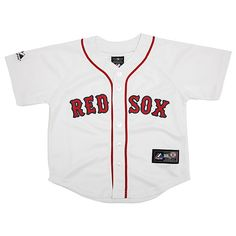 Boston Red Sox Toddler Replica Home Jersey by Majestic Athletic