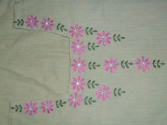 hand embroidery designs for salwar kameez neck - Google Search
