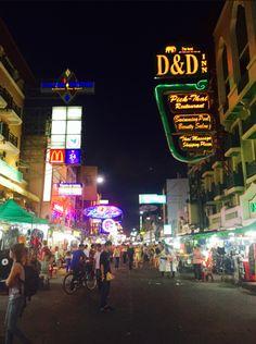 Visiting Khao San Road, or Backpackers' Road, in Bangkok, Thailand at night was an experience!
