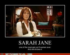Yup. Traveled with Doctor. Has a robotic dog. Stops aliens when the Doctor can't make it.Really mis Liz sladen!!!