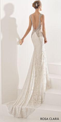 982ed426927 rosa clara 2017 bridal sleeveless embroidered strap sweetheart neckline  full embellishment elegant fit and flare wedding