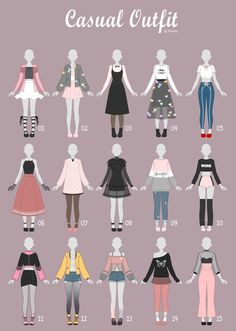 17 Anime Poses Reference Casual Art Clothes Fashion Drawing Pin By Milk On Digital Cloz Draw. Fashion Design Drawings, Fashion Sketches, Sport Outfits, Casual Outfits, Diy Outfits, Kleidung Design, Drawing Anime Clothes, Drawings Of Clothes, Clothing Sketches