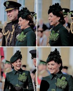 The Duke and Duchess of Cambridge attend the annual Irish Guards' St Patrick's Day Parade at Household Cavalry Barracks on March Princess Katherine, Princess Margaret, Princess Charlotte, Duchess Kate, Duke And Duchess, Duchess Of Cambridge, Prince William And Kate, William Kate, Kate Middleton