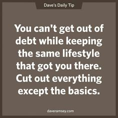 Debt and lifestyle