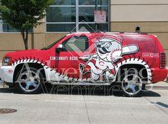 Cincinnati Reds SUV Vehicle Wrap