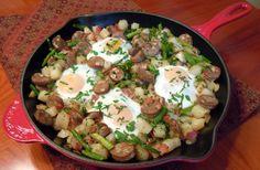Chicken Sausage Pancetta & Asparagus Hash