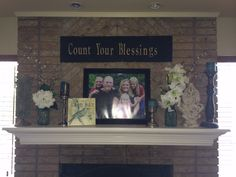 Summer Fireplace Mantle design