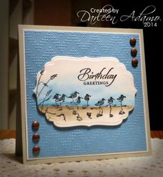 Try using SU Shore Thing set * Happy Birthday, Jamie! by darleenstamps - Cards and Paper Crafts at Splitcoaststampers Masculine Birthday Cards, Birthday Cards For Men, Masculine Cards, Male Birthday, Birthday Images, Birthday Quotes, Bird Cards, Men's Cards, Nautical Cards