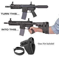ar pistol brace | SigTac PSB-AR-BLK SB15 Pistol Stabilizing Brace Does NOT turn AR into NFA weapon.