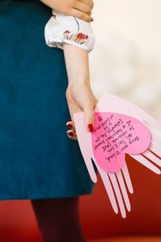 Try these pop up Valentine's Day cards with paper hands and hearts.