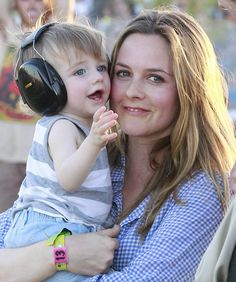 Actress Alicia Silverstone and son Bear in an Essential Embrace. From mom.me