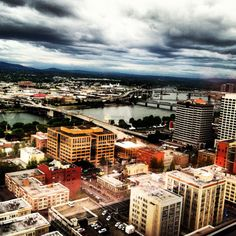 View of Portland from Portland city grill. Next you go to Portland, eat here!!!