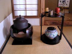 Japanese tea ceremony set up
