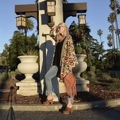 Fashion Should Be Fun - Style Over 40, boho chic over 40, midlife style, festival style over 40, 70's inspiration, kimono trend, fringe trend, trendy over 40