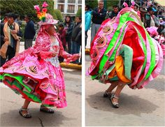 An explosion of colours at the Fiesta de la Candelaria in Puno http://www.tammyandchrisonthemove.com