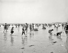 ca 1905 The Jersey Shore ~ On the Beach at Atlantic City; ... where's my pail?
