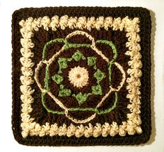 Crochet Nosegay Afghan Square by Mellie Blossom, via Flickr
