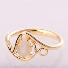 Opal engagement ring Opal ring Opal Jewelry Unique by doronmerav