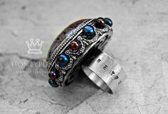 Кольцо из серебра с кварцем и жемчугом. honeypunk.ru