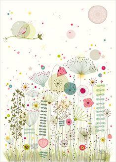Flower Print. Nature Wall Art for Kids