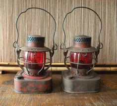 Dietz Railroad Lantern with Red Globe Rustic Cottage or Cabin Decor. $60.00, via Etsy.