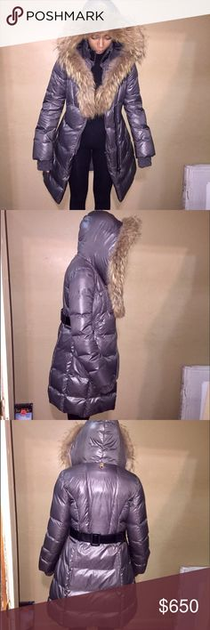 Mackage long puffer jacket with full fur hood Mackage puffer jacket amazingly stylish and warm !! Big warm fur hood and adjustable leather belt to the back ❤️ Mackage Jackets & Coats Puffers